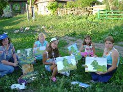 Выездное занятие учащихся детской школы искусств №4 г.Энгельса в селе Горюши и селе Поповка